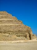 金字塔的内角加强用三角条Djoser (Zoser) 库存照片