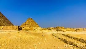 金字塔的看法Henutsen (G1-c)在吉萨棉 库存照片