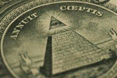 金字塔的美元眼睛 免版税库存图片