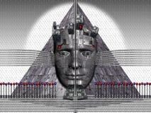 金字塔空间 免版税图库摄影