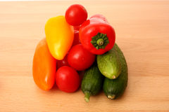 金字塔蔬菜 库存照片
