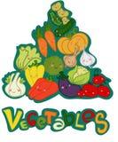 金字塔蔬菜 库存例证