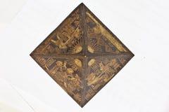 金字塔顶部玩具视图 免版税库存图片