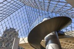 金字塔,天窗,巴黎,法国的楼梯 免版税图库摄影