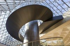 金字塔,天窗,巴黎,法国的楼梯 库存图片