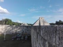 金字塔,奇琴伊察,墨西哥,梅里达,尤加坦 免版税库存照片