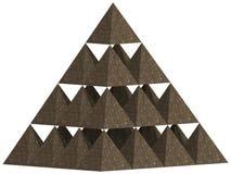 金字塔3D 免版税库存图片