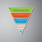 金字塔infographic模板,传染媒介, EPS10 免版税库存图片