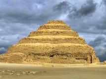 金字塔sakkara步骤 免版税库存图片