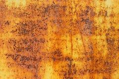 金属一生锈的表面变形 免版税库存照片