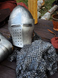 金属中世纪装甲和空白 免版税图库摄影