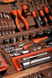 金属制品工具箱 库存图片