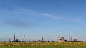 金属制造的被放弃的工厂在保加利亚 免版税库存照片