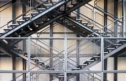 金属化台阶 免版税库存照片