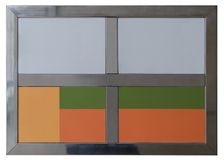 金属化在白色背景隔绝的tex的框架 库存图片