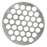 金属化在白色背景隔绝的热的碗筷的trivet 免版税图库摄影