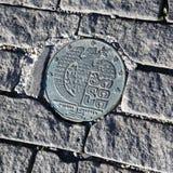金属化徽章第比利斯的边路的, 2016年10月6日,乔治亚 欧洲 库存图片