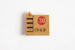 金属化徽章以纪念胜利的第三十周年 库存照片