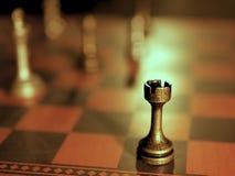 金属化棋子,竞争的经营战略概念性图象 免版税库存照片