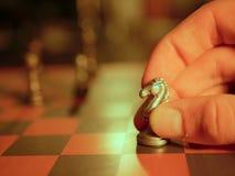 金属化棋子,竞争的经营战略概念性图象 免版税库存图片