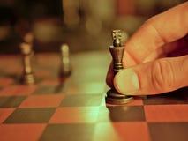 金属化棋子,竞争的经营战略概念性图象 库存图片