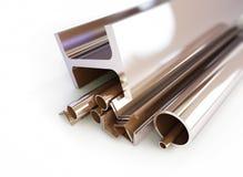 金属化管子,角度,渠道,正方形 库存照片