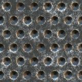 金属化老概略的钢纹理 免版税图库摄影