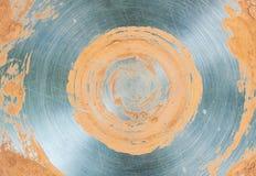 金属化背景圈子灰色米黄核心基地发光的样式 图库摄影