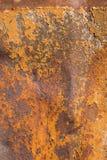 金属化铁锈生锈的显示的纹理 免版税库存图片