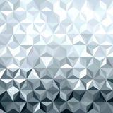 金属化银色3d几何低多无缝的样式 免版税库存图片