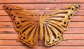 金属和木纹理 库存图片