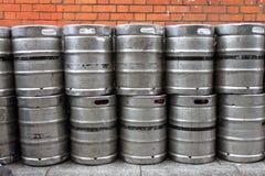 金属啤酒小桶 库存照片