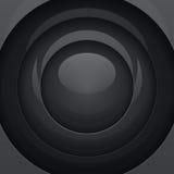 黑金属圆形 免版税库存图片