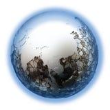 金属地球上的东南亚 库存照片