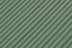 金属墙壁篱芭的绿色纹理 免版税库存照片
