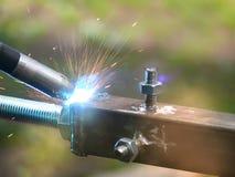 金属处理焊接 免版税库存图片