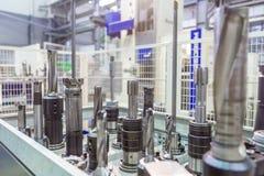 金属工艺生产的设备 库存照片