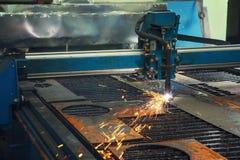 金属工艺的CNC机器 库存图片