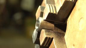 金属工艺碾碎的关闭  股票视频