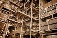 金属建筑-被放弃的工业区 免版税库存图片