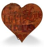 金属心脏难看的东西生锈了老 免版税库存照片