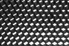 金属抽象六角形的滤网 免版税库存图片