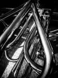 金属抽象管子 库存图片