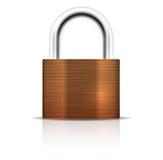 金属挂锁。闭合的锁安全象 库存图片