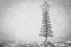 金属新年树 库存图片