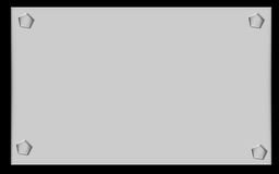 金属无格式符号 免版税库存照片