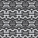 金属无缝的样式 免版税图库摄影