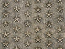 金属星安心样式纹理 免版税库存图片
