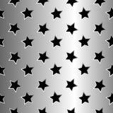 金属星形纹理 免版税库存照片