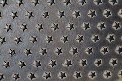 金属星纹理背景 免版税库存图片